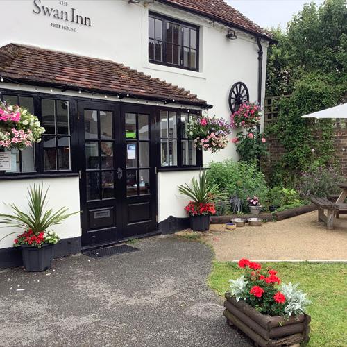 The Swan Inn in the sun